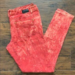 ROCAWEAR Corduroy Red Acid Wash Pants